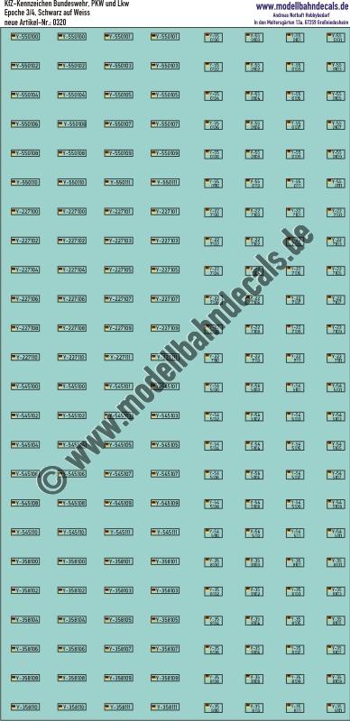 Aufkleber Kfz Kennzeichen Bundeswehr Pkw Und Lkw Auslaufartikel Neu Siehe 321 Artikel Nummer 0320