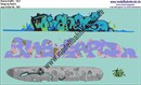 """Nass-Schiebebilder: Graffiti-Set 2, Design by David S. Artikel-Nummer: 7401"""
